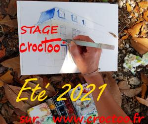 image de Atelier de dessin sur le vif / aquarelle CROCTOO par Michel ANDRE